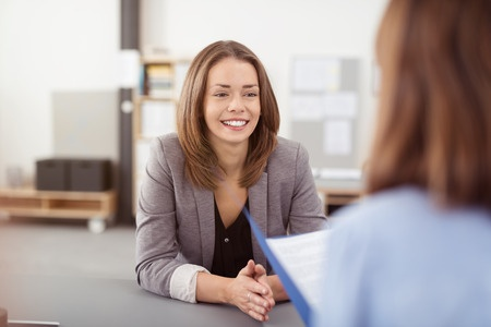 Interview coaching with a young woman