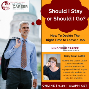 University of Chicago – Mind Your Career – Webinar Series